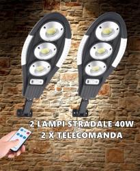 SET 2 LAMPI SOLARE STRADALE 3 CASETE 40W