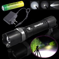 PACHET - 2 X LANTERNE SWAT LED 3W Q5 METALICA REINCARCABILA