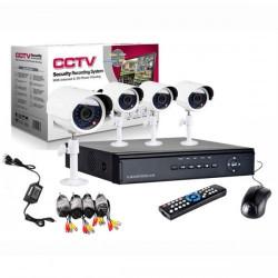 KIT SUPRAVEGHERE VIDEO CCTV 4 CAMERE + DVR