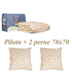 SET PILOTA + 2 PERNE PUF GASCA