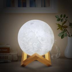 LAMPA LUNA 3D - 8 CULORI 20CM