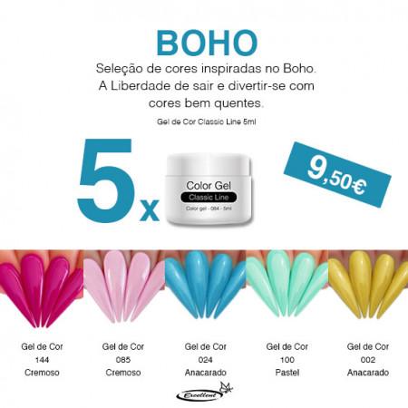 Conjunto x5 cores - Boho