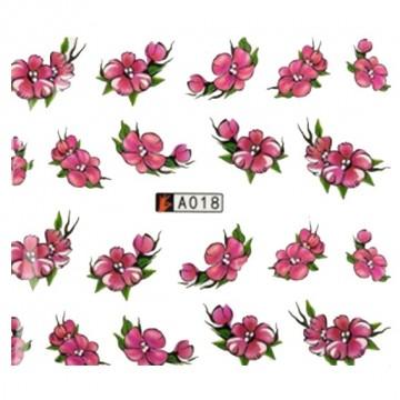 Decalque de  Água A018 Flores Violeta