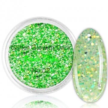 Glitter Glow In Dark 02