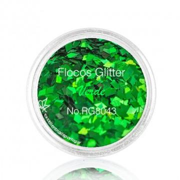 Flocos de Glitter Verde