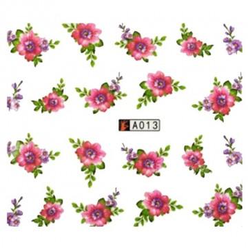 Decalque de  Água A013 Flores Rosas