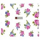 Decalque de Água A025 Flores Rosas e Azuís