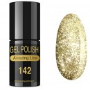 VERNIZ GEL AMAZING LINE 5ml 142 GOLD GLITTER