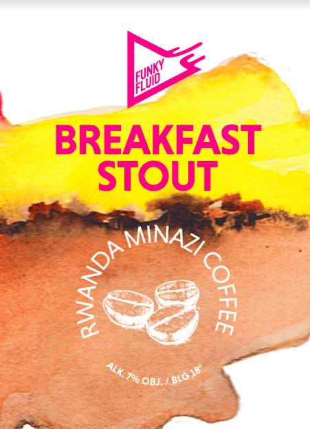 eticheta Breakfast Stout: Rwanda Minazi Coffee