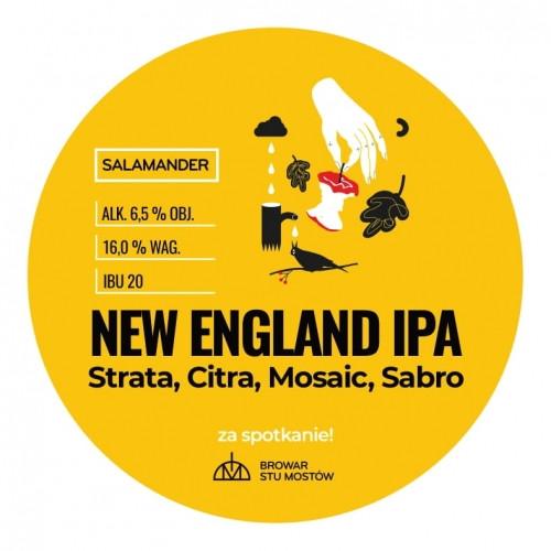 eticheta Salamander New England IPA Strata Citra Mosaic Sabro