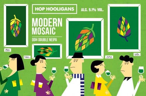 eticheta Hop Hooligans Modern Mosaic - Hop Hash