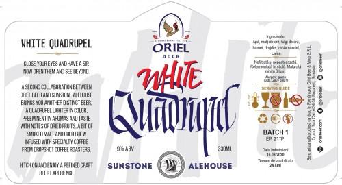 eticheta Oriel X Sunstone White Quadrupel