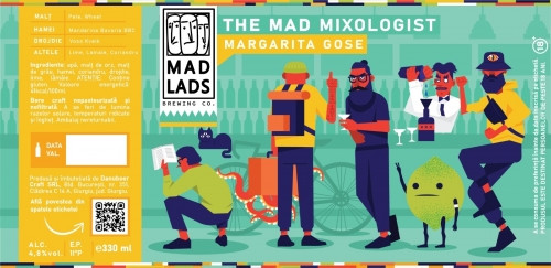 eticheta The Mad Mixologist Margarita Gose