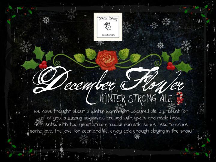 eticheta White Pony December Flower