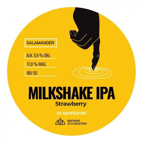 eticheta Salamander Milkshake IPA Strawberry