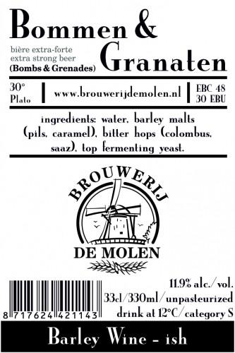 eticheta De Molen Bommen & Granaten