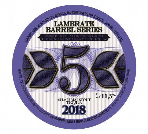 eticheta Lambrate Barrel Series #5 IMPERIAL STOUT TEQUILA 2018