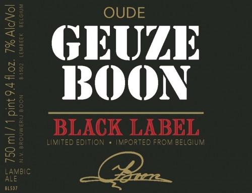 eticheta Oude Geuze Boon Black Label Edition N°4