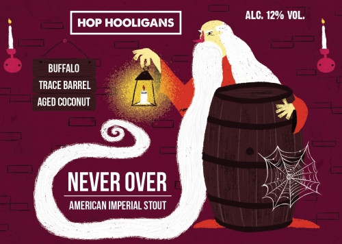 eticheta Hop Hooligans Never Over: Buffalo Trace BA Coconut