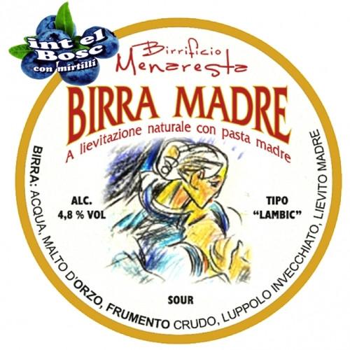 """eticheta Birra Madre """"in del Bosc"""" con Mirtilli"""