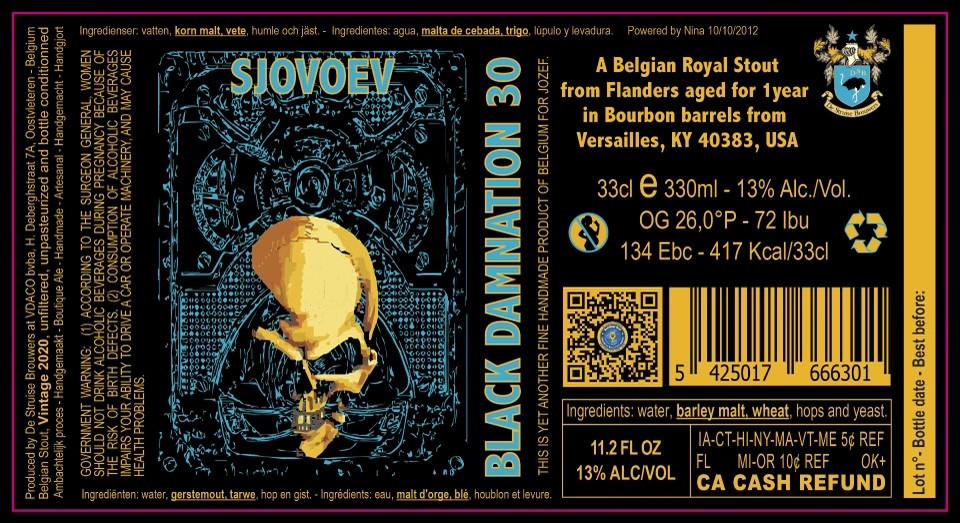 eticheta Sjovoev - Black Damnation XXX