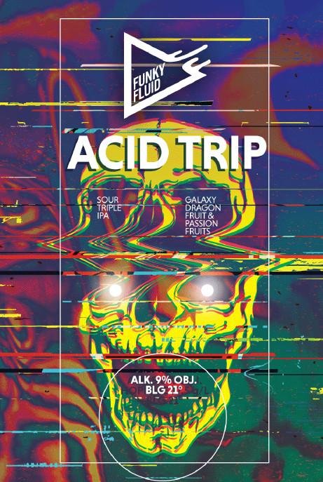 eticheta Acid Trip: Galaxy, Dragon Fruit & Passion Fruit