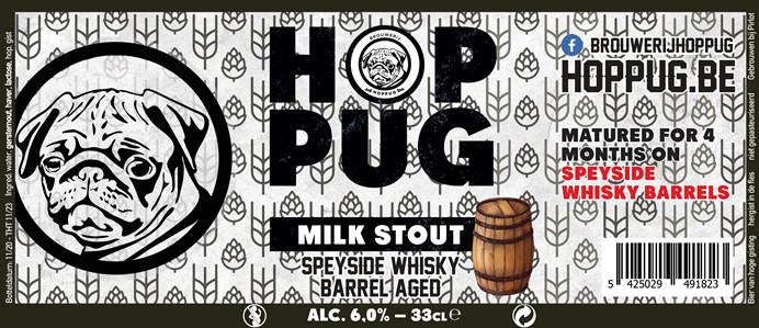 eticheta Hoppug Milk Stout Speyside Whisky Barrel Aged