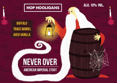 eticheta Hop Hooligans Never Over: Buffalo Trace BA Vanilla