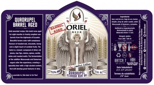 eticheta Oriel Quadrupel (Ecuador Rum BA)
