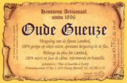 eticheta Hanssens Oude Gueuze