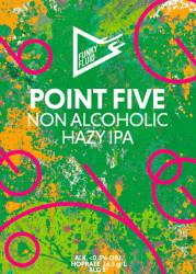 eticheta Point Five Hazy IPA
