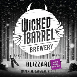 eticheta Blizzard Bourbon Barrel Chips