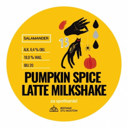 eticheta Salamander Pumpkin Spice Latte Milkshake