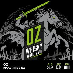 eticheta OZ Whisky Barrel Aged