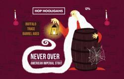 eticheta Hop Hooligans Never Over: Buffalo Trace BA