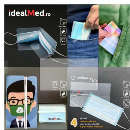 Suport Igienic Masca - Produs Transparent + Logo Personalizat Gratuit