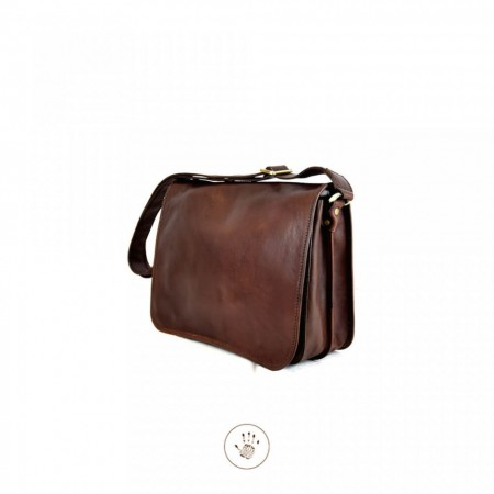BORSA TRACOLLA IN PELLE TORNABUONI FIRENZE MADE IN ITALY