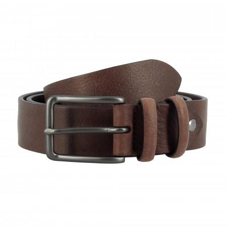 DUDU Cintura in Pelle stile Vintage Made in Italy da Uomo o Donna da 35mm Accorciabile