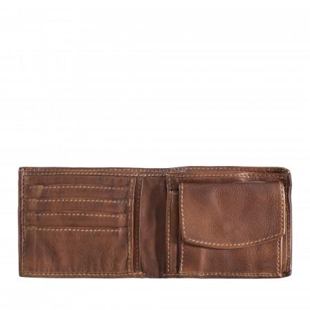 DUDU Portafoglio Uomo in Vera Pelle Vintage Morbida con Tasca Portamonete, 4 Porta Carte di Credito e Scomparto Banconote
