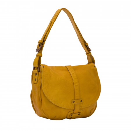 DUDU Borsa a Tracolla Donna in Pelle Vintage Borsa a Spalla Hobo Bag con Patta e Cerniera Zip