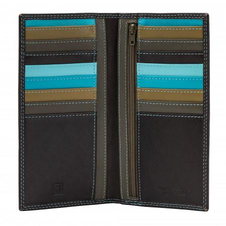 DUDU Portafoglio Donna Anti RFID in Pelle Colorato Grande con 16 Tasche Porta Carte di credito Tessere