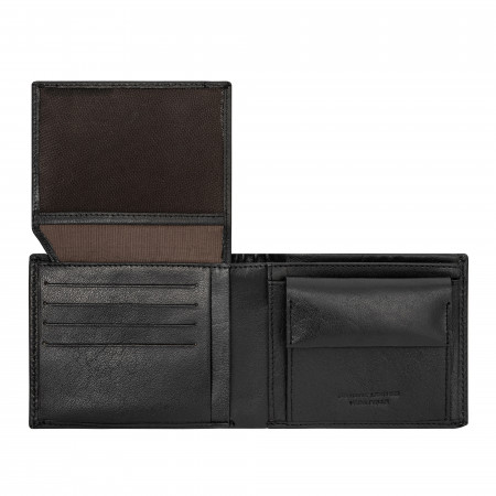 DUDU Portafoglio Uomo in Pelle con Portamonete Classico Elegante Porta Carte Credito e Banconote