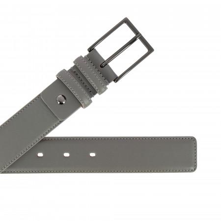 Nuvola Pelle Cintura da Uomo in Pelle Morbida made in Italy Elegante H 34mm con Fibbia in Metallo