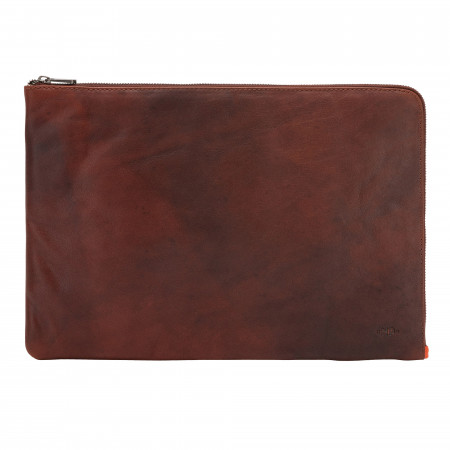 Nuvola Pelle Portablocco A4 in Pelle con Zip Cartella Portadocumenti Tablet Cartellina da Lavoro con Maniglia