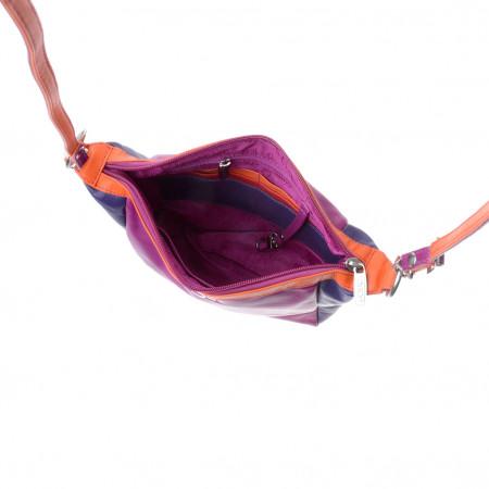 Borsa donna piccola multicolore in pelle Nappa a tracolla DUDU