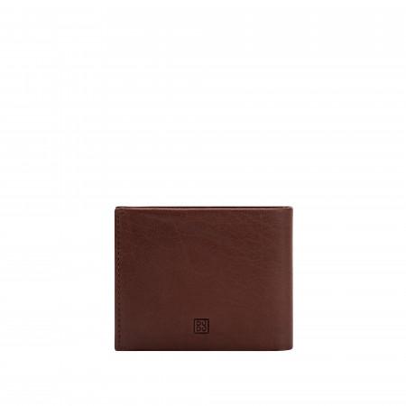 DUDU Portafoglio in Pelle da Uomo con Portamonete Sottile Slim Porta Carte Documenti Banconote