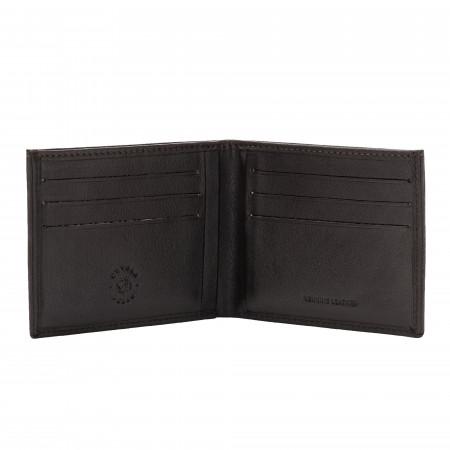 Nuvola Pelle Portafoglio Uomo Compatto Slim in Vera Pelle Porta Banconote e 6 Tasche Porta Carte