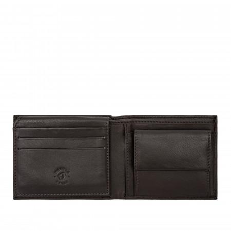 Nuvola Pelle Portafoglio Uomo Piccolo con Portamonete in Pelle Morbida Porta Carte di Credito Banconote