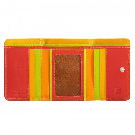 Portafoglio donna piccolo in pelle multicolore Colorful di DUDU