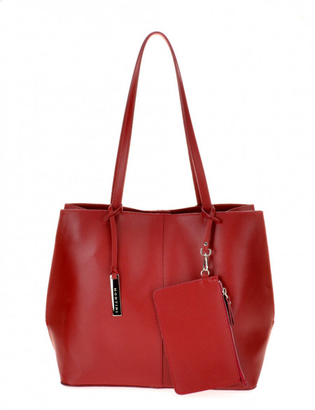 BORSA DONNA SHOPPING A SPALLA IN PELLE MONTINI BETTY MADE IN ITALY